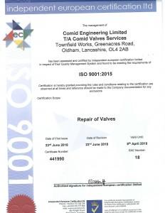 Independent European Cert ISO 9001 2015 Exp 8APRIL2019-1